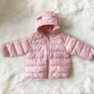 GAP Toddler Girl Puff Winter Coat Pink